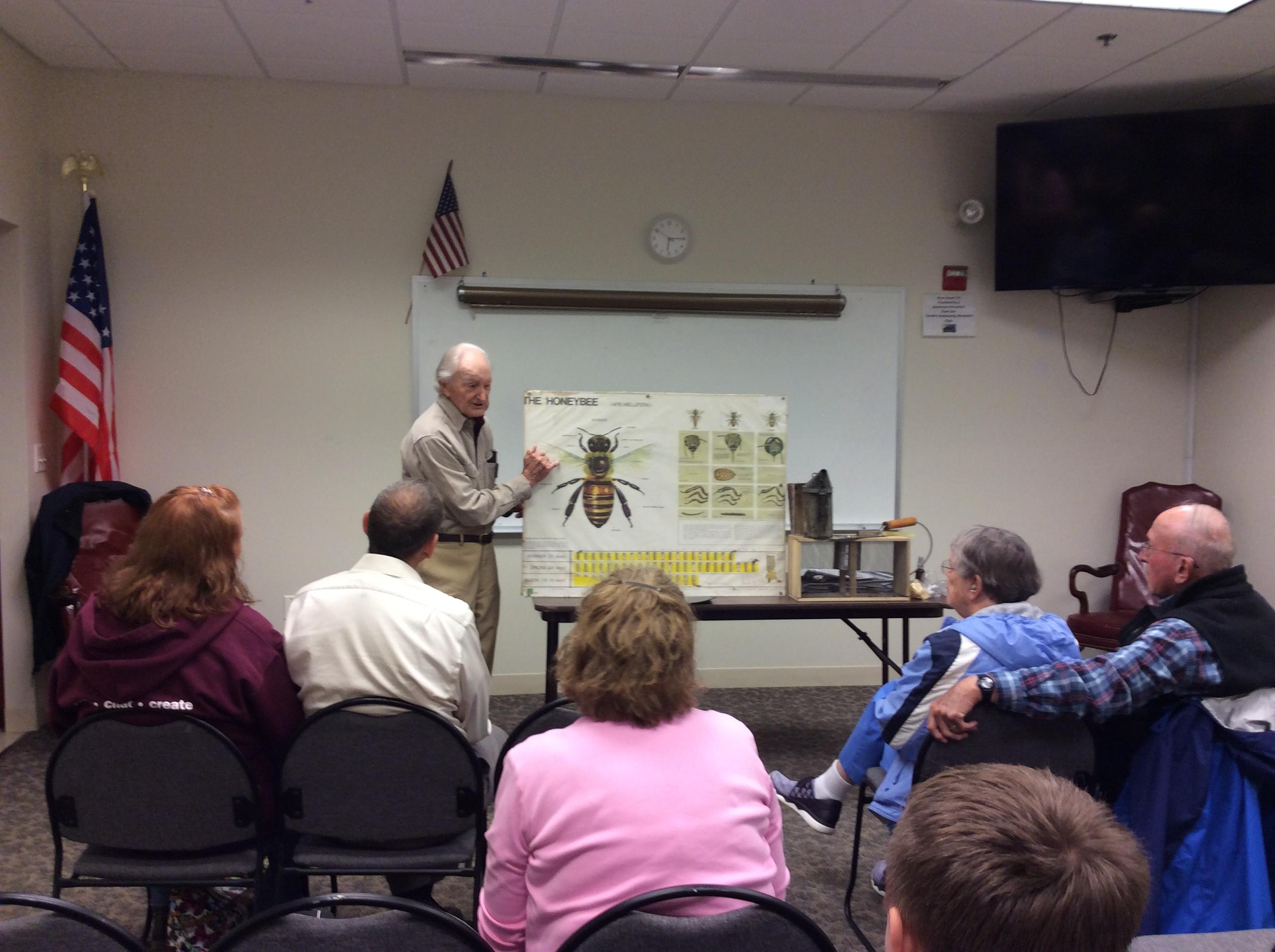 Reggie Henshaw's class on bees!