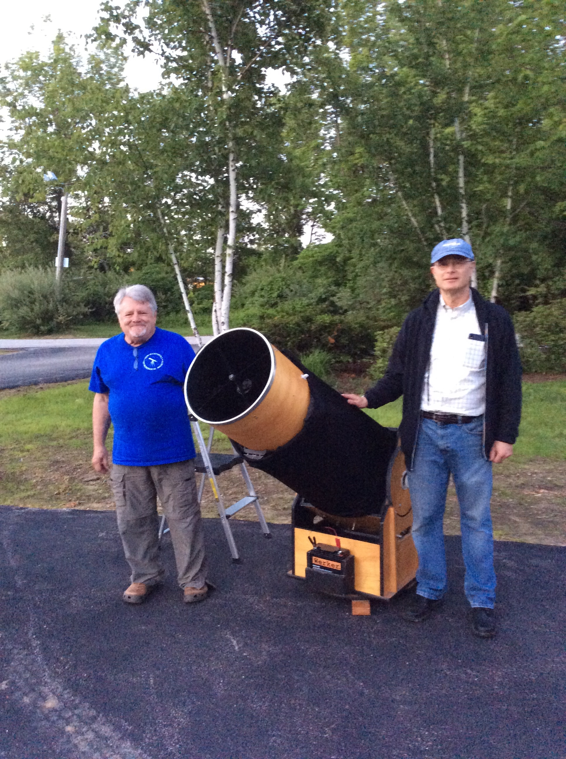Steve Rand and Andy Jaffe from NH Astronomical Society at the Skywatch